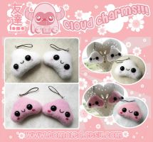 Kawaii Clouds - Phone Charms by TomodachiIsland