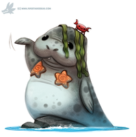 Daily Paint #1018. Man-maid-a-tee by Cryptid-Creations