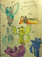 Adoptable Winged Cats .:2 POINTS EACH:. by XxHawkfirexX