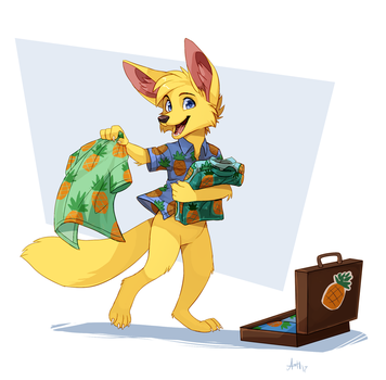 Comm for Goldenrod by Skeleion