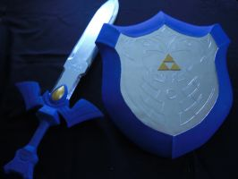 Wind Wake Master Sword and Mirror Shield by Alexp3000