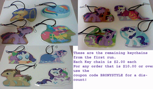 The remaining key chains by lcponymerch