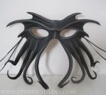 Cthulhu leather mask, black by shmeeden