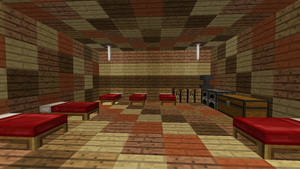 Minecraft - The Vomit Wood House (Inside) by TheNeonInferno