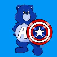Captain America Care Bear by amydrewthat