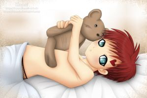 Little Gaara needs a hug by Klamsi