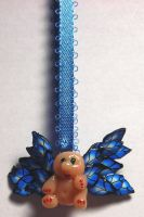 Blue Wee Peapod Fairy Necklace by Celtic-Dragonfly