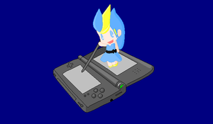 Xera as a chibi on a DS {art trade} by UltimateAlexandra1