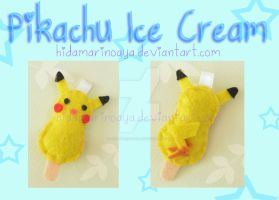 Pikachu Ice Cream Keychain Plush by HidamariNoAya