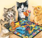 Mouse Trap - Cats playing game by bigcatdesigns