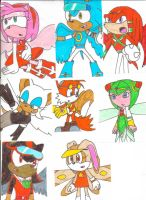 Sonic Flyer-X characters 01 by cmara