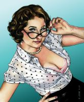 Contemporary Pinups Trading Card by RichardCox