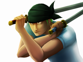 [ One Piece ] Roronoa Zoro by StupidShepherdDog