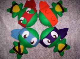 Ninja Turtle Plush by Michkate