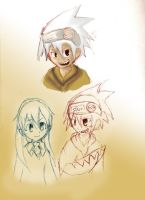Soul Eater Random Sketches by Xiqi