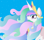 Princess Celestia by snowdeer97