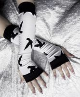 Nevermore Arm Warmers by ZenAndCoffee