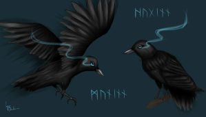 Huginn and Muninn by Neenime