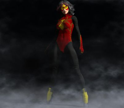 Spiderwoman new suit 2nd skin textures for V4 by hiram67