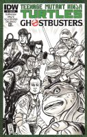 Ghostbusters TMNT Sketch Cover by timshinn73