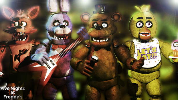 C4D Poster The band by YinyangGio1987