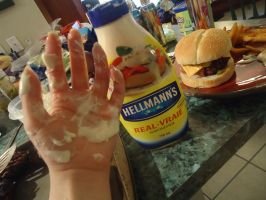 mayonnaise explosion!!! by Muffinlover24