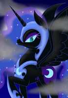 Nightmare Moon by BloodyPink-M