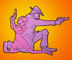 Bonnie and Clyde for #Sketch_Dailies by T16skyhopp