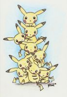 Pikachu Tower by MusicMew