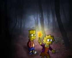 Simpsons: Alone in the dark... by MagicMikki
