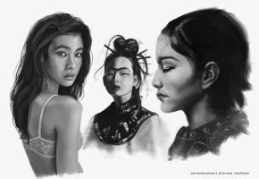 Female Asian Portraits 2 by CobyRicketts