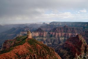 Summer Storm from Inspiration Point by artamusica