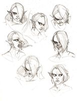 Lord Ghirahim Expression Sheet by Mudora