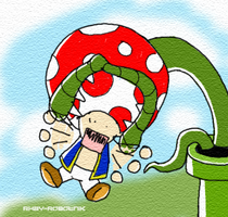 Eat Piranha Plant Eat by Rhay-Robotnik