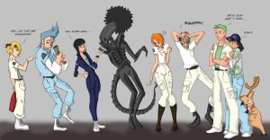 One Piece meets Alien by scaragh