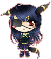 Pokemon Gijinka - Yami (Umbreon) by miyako-miku
