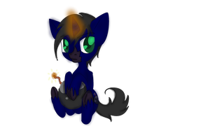 .:Chibi Pony Commission 1- Gemheart Bomber:. by InvaderIka