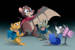 NIMH Halloween II: Brisby's Bat Transformation by WhiteLionWarrior