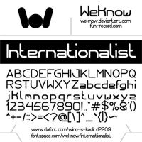 Internationalist font by weknow by weknow