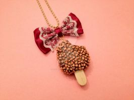 Ice Cream Popsicle Necklace with Bow by tiramisuxfluff