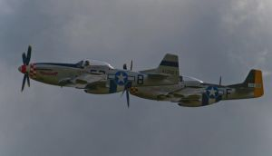 P51 Mustang Pair Flypast by davepphotographer