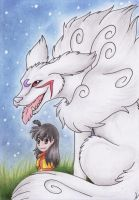 ::Gift:: Sesshomaru and Rin by LostDreamer92