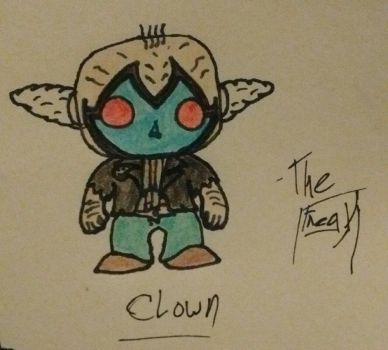 Funko POP Clown design by TheFreaKofficial