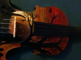 Hand Built/Painted Violin by summitstars