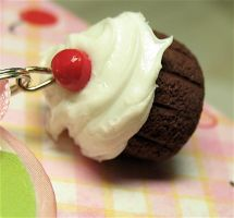 cherry on top close up by MotherMayIjewelry