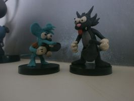 Itchy and Scratchy Models by FierceTheBandit