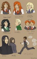 Harry Potter Doodles by AlbinoNial