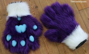 Paws for KatheChan by TheKareliaFursuits
