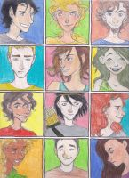 Percy Jackson Characters by Slb9537