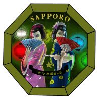 Sapporo Beer Coaster by nenerocks